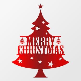 松のクリスマスツリー、メリークリスマスの活版印刷のポスターのベクトル。 eps10ベクトル。