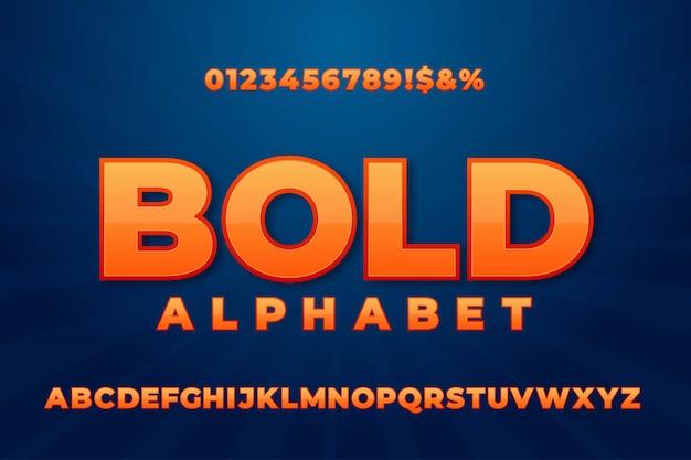 Вектор стилизованный жирный шрифт и алфавит