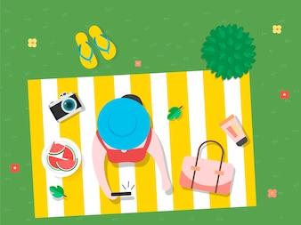 Vector of summer feel design