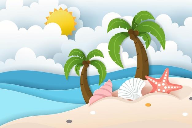 여름 포스터, 배너 여름 여행의 벡터입니다. eps 10 벡터입니다.