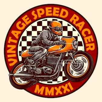 ヴィンテージカフェレーサーオートバイデザインのベクトル