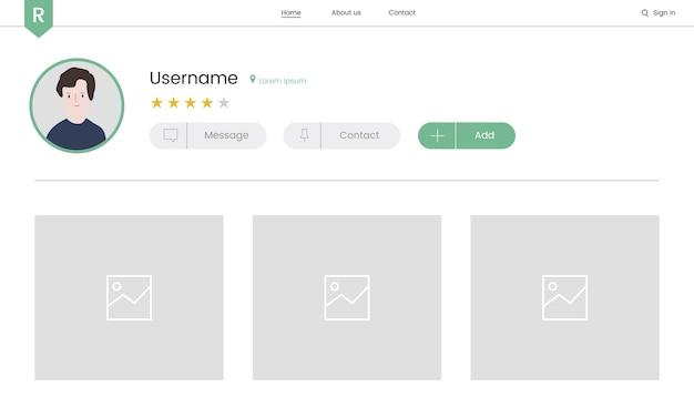 Вектор элементов веб-сайта для веб-дизайна