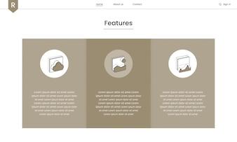 Vector of website elements for web design