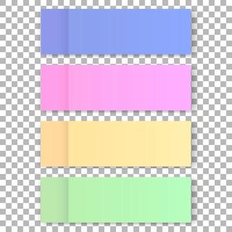 Vector office color post sticks for design