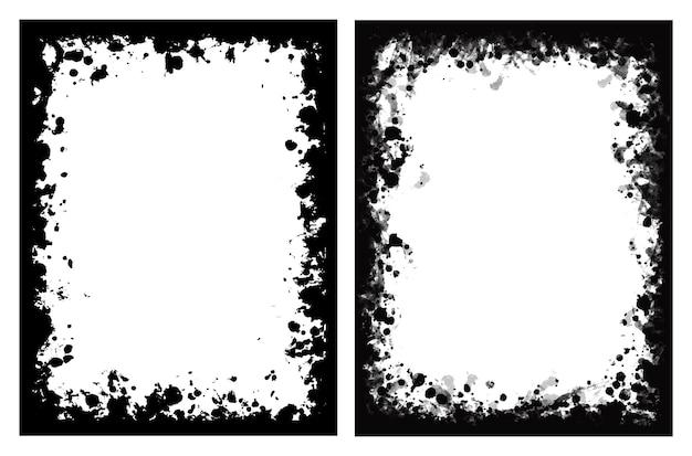 Vector old grunge frames