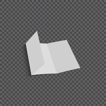 Vector open blank folding paper leaflet