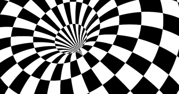 Vector optical illusion stripped spiral background.