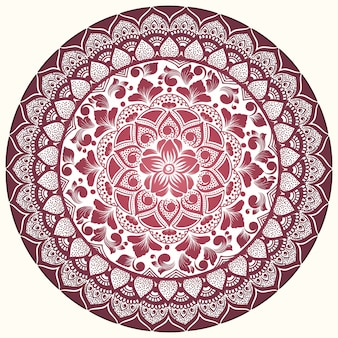 Vector ornamental round lace with damask and arabesque elements.