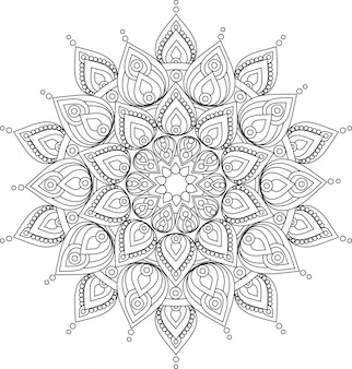 Vector ornate mandala illustration