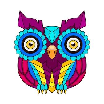 Vector of an owl design on white background, bird. animal. wildlife. easy editable layered vector illustration.