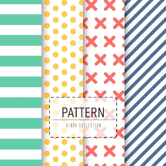 Vector pack of seamless patterns