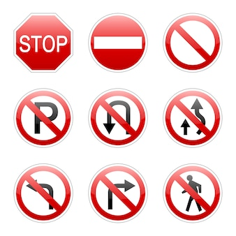 Vector pack traffic sign