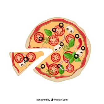 Итальянская еда пиццы vector pack