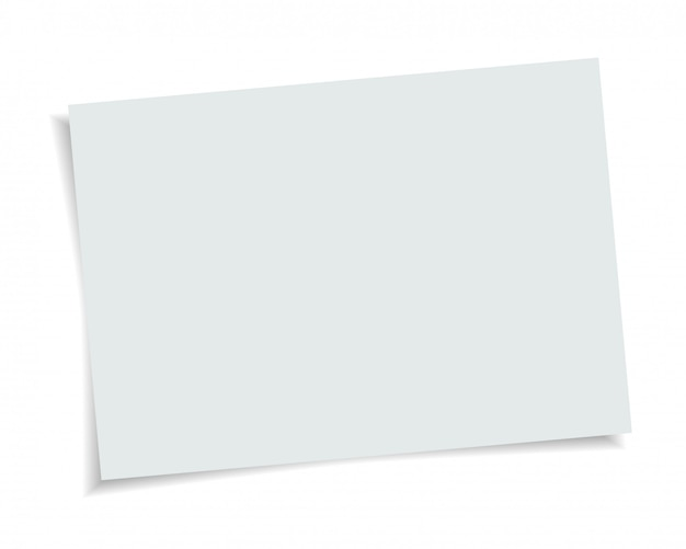 Vector paper format a4 size with realistic shadow. white blank page isolated on background. mock up template.