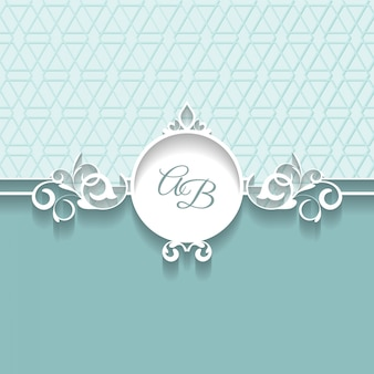Vector paper frame with ornamental lace border