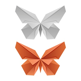 Vector paper japanese butterflies