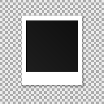 Vector paper square frame isolated on transparent background