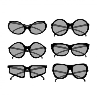 Vector party sunglasses . accessories for hipsters fashion optical spectacles eyesight view