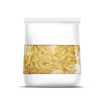 고립 된 서식 파일을 포장하는 벡터 파스타 껍질