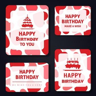 Vector pattern birthday cards