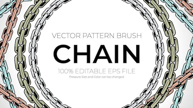Vector pattern brushes, chain brush stroke
