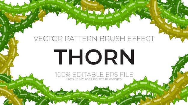 Vector pattern brushes, thorn brush stroke