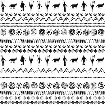 부족 요소 벡터 패턴 디자인