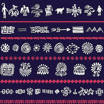 Vector pattern design with tribal elements
