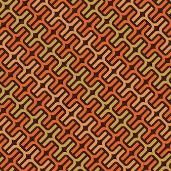 Векторный образец переплетенных цветных линий. цепной узор