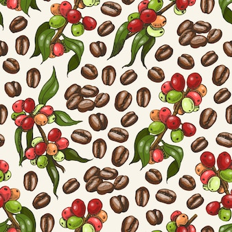 Vector pattern with coffee