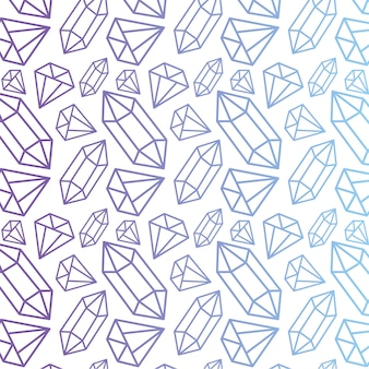 Vector pattern with diamonds