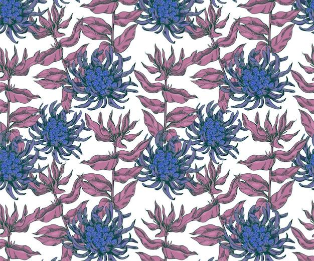 花の要素と植物のベクトルパターン