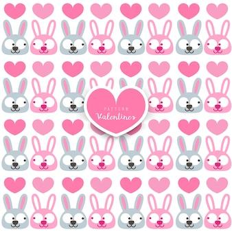 ウサギのベクトルパターン