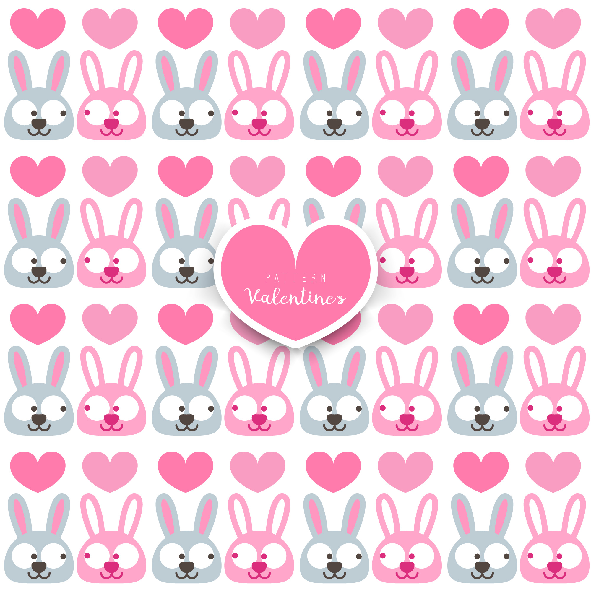 Vector pattern with rabbit