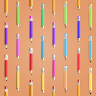 Vector pencil seamless pattern. education background
