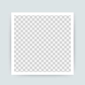 Vector photo frame design. realistic photograph with blank space for image. .