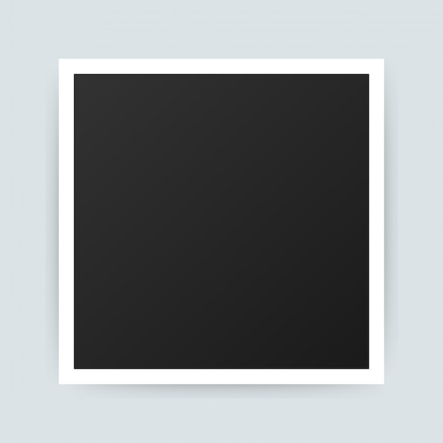 Vector photo frame design. realistic photograph with blank space. .