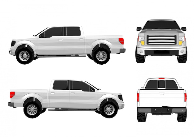 Vector pickup truck