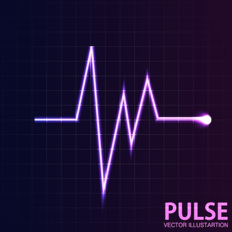 Vector pink glowing  pulse background