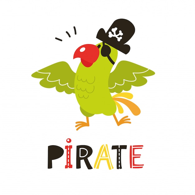 Vector pirate parrot