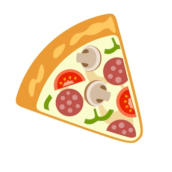 Vector pizza images on a white background.