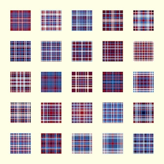 벡터 격자 무늬 질감입니다. 기하학적 완벽 한 패턴을 설정합니다. 파란색, 빨간색, 흰색 색상 평면 배경입니다.