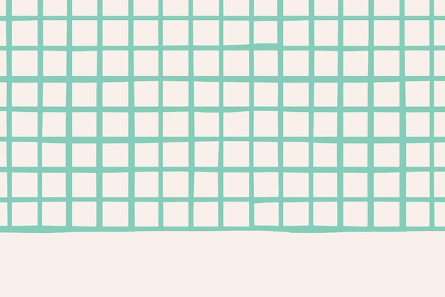 베이지색 벽지에 벡터 일반 녹색 격자 패턴 무료 벡터