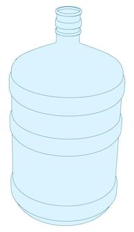 Вектор пластиковая бутылка для офисного кулера
