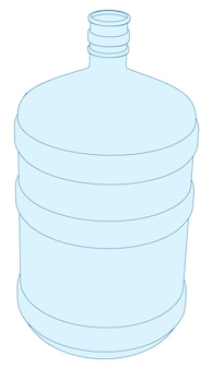 Vector plastic bottle for office cooler