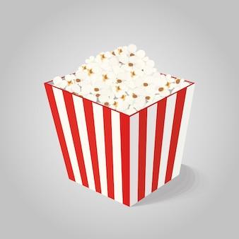 Vector popcorn in striped box