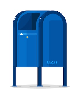Vector postal mailbox container isolated