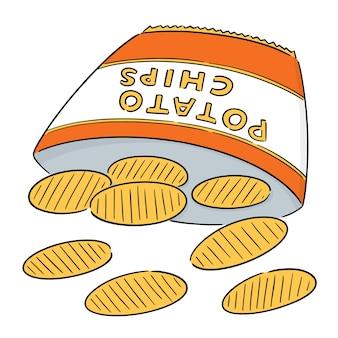 Vector of potato chips