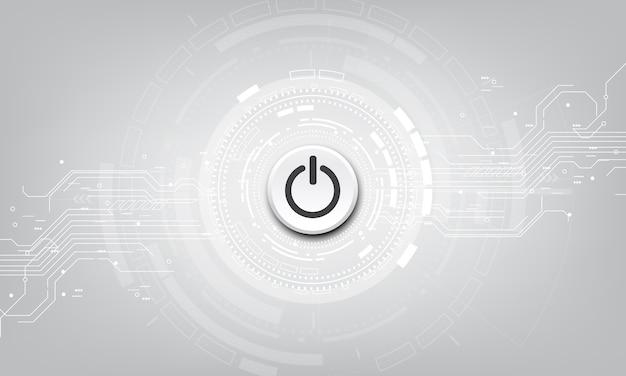 技術背景のベクトル電源ボタン。