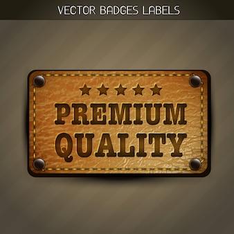 Vector premium label